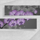 Abstract Banners With Place For Your Text. 3D Abstract Banners With Place For Your Text. Vector Illustration. Eps 10 Royalty Free Stock Images