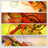 Abstract banners set Stock Images