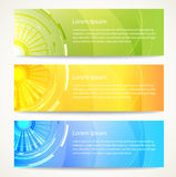 Abstract banners set. With place for your text. Vector illustration Stock Image
