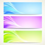 Abstract banners set. Abstract banners set with smooth lines. Vector background, contains transparencies Royalty Free Stock Photography