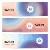 Abstract banners set design template. Vector banners Royalty Free Stock Photography