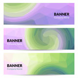 Abstract banners set design template. Vector banners Stock Image