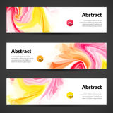 Abstract banners set design template. Vector banners Royalty Free Stock Photo
