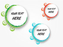 Abstract banners. Set of three colorful curvy abstract banners vector illustration