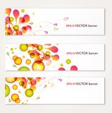 Abstract banners set vector design. Abstract floral colorful banners set vector design Stock Images