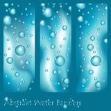 Abstract banners with splashes of water Royalty Free Stock Image