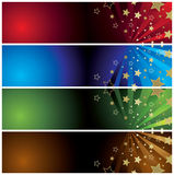 Abstract banners with stars Stock Photography