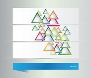Abstract banners with  triangles Stock Photos