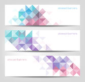 Abstract Banners With Triangular Shapes Pattern Royalty Free Stock Photos