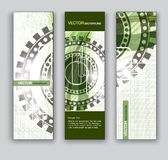 Abstract Banners. Vector Eps10 Backgrounds. Royalty Free Stock Image