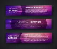 Abstract Banners. Vector Eps10 Backgrounds Stock Photo