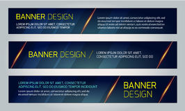 Abstract Banners. Vector Eps10 Backgrounds. Royalty Free Stock Images