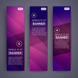 Abstract Banners. Vector Eps10 Backgrounds. Stock Photography