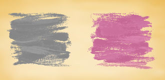 Abstract banners with watercolor splashes. Royalty Free Stock Photos