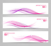 Abstract Banners - Waves oprava2. Elegant abstract banners for web or print. Can be used to illustrate topics related to cosmetics and beauty Royalty Free Stock Photography
