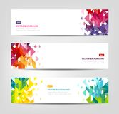 Abstract Banners - Geometric Shapes Stock Photo