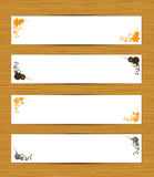 Abstract banners on wooden background Royalty Free Stock Photography