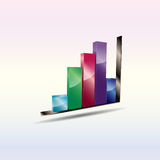 Abstract bar chart. Royalty Free Stock Photography