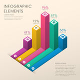 Abstract bar chart infographics Stock Photography