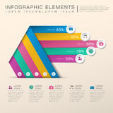 Abstract bar chart infographics Stock Photos