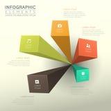 Abstract bar chart infographics Stock Photos