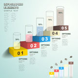 Abstract bar chart infographics Stock Images