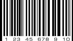 Abstract bar code, barcode vector icon illustration Royalty Free Stock Photography