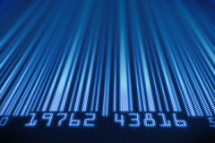 Abstract bar code design Royalty Free Stock Image
