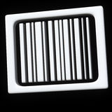 Abstract bar code icon 3d. Abstract white bar code icon 3d on black background Royalty Free Stock Photography