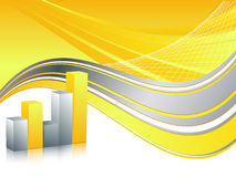 Abstract bar graphs Royalty Free Stock Photo