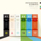 Abstract bar infographics Royalty Free Stock Images