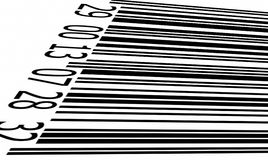 Abstract barcode security pattern Stock Image