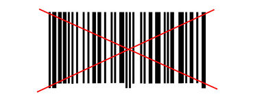 Abstract barcode security pattern  on white background Stock Photo