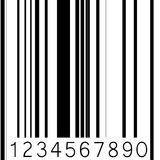 Abstract barcode strip Royalty Free Stock Image