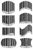 Abstract barcode vector illustration Stock Photos