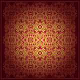 Abstract baroque vector background red Royalty Free Stock Images