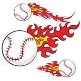 Abstract Baseball Flames Set Royalty Free Stock Image