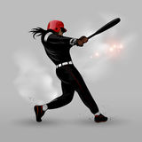 Abstract baseball hitting ball Stock Photos