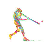 Abstract baseball Sport Silhouette Stock Images