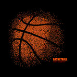 Abstract basketbal Royalty-vrije Illustratie
