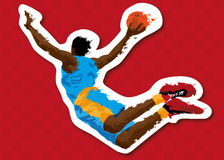Abstract basketball background. Illustration stock illustration