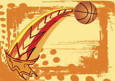 Abstract basketball banner Royalty Free Stock Photos