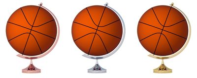 Abstract basketball Globe Stock Image