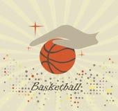 Abstract basketball logo Stock Photography
