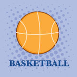 Abstract Basketball Over A Purple Background Royalty Free Stock Photography