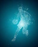 Abstract basketball player Stock Photography