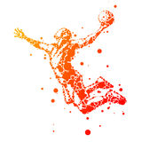 Abstract basketball player in jump Royalty Free Stock Image