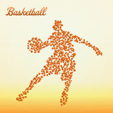 Abstract basketball player. Silhouette from balls dribbling stock illustration
