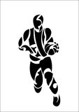 Abstract basketball player Stock Photography