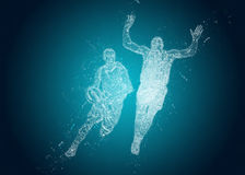 Abstract Basketball players in action Stock Photo